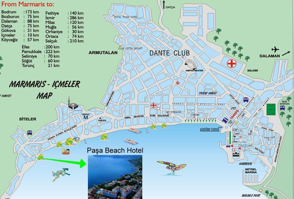 Карта курортов и достопримечательностей Турции