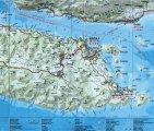 карта Корчула