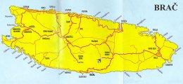 карта о.Брач