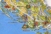 карта Шибеник