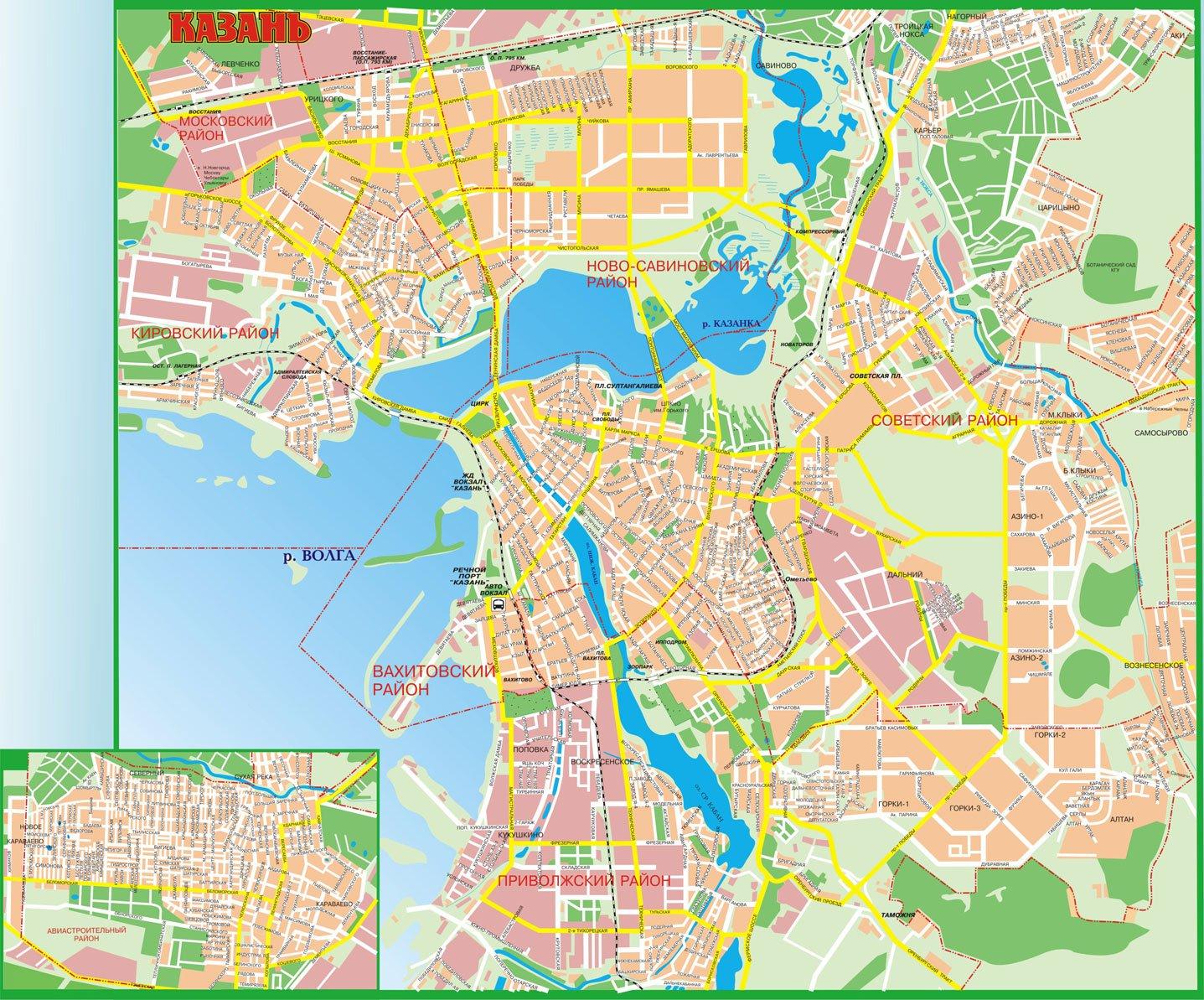 Карта схема города казань 677