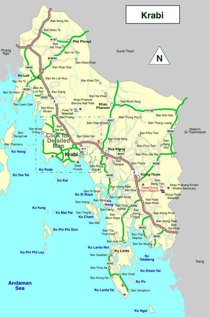 Карта тайланда с островами на русском языке краби тайланд туроператор прямой эфир