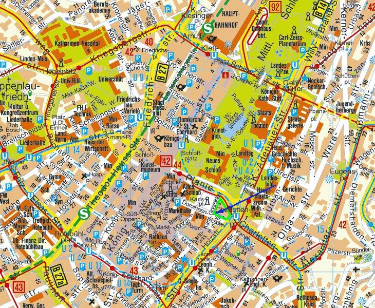 настоящее карта штутгарт с отелями термобелье