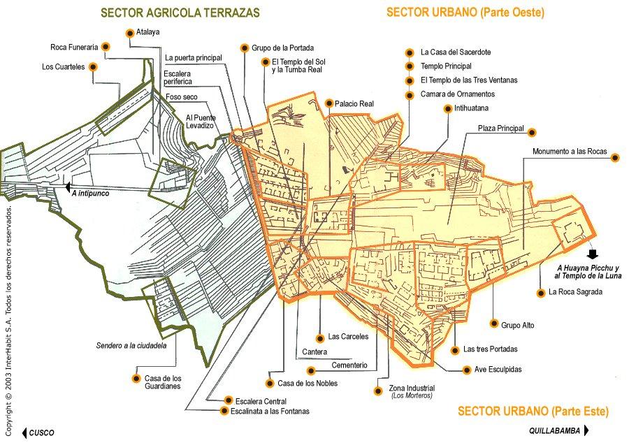 Karty Machu Pikchu Peru Podrobnaya Karta Machu Pikchu Na Russkom