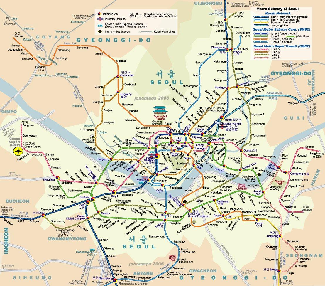 Схема метро сеула на русском языке фото 286
