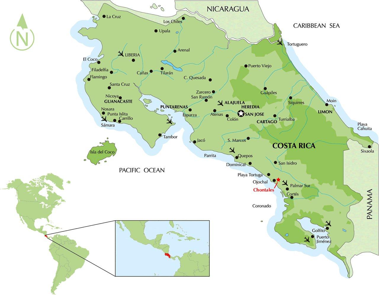 Karty Kosta Riki Podrobnaya Karta Kosta Riki Na Russkom Yazyke S