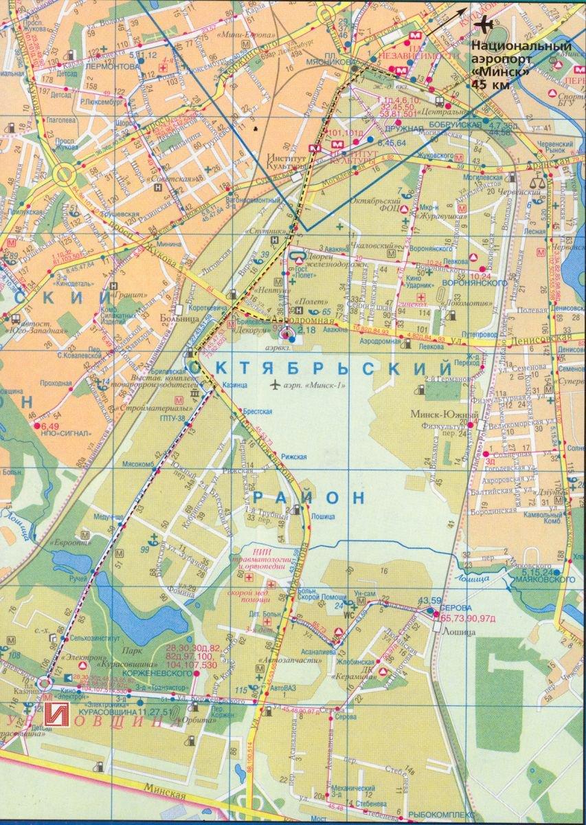 Карты Минска (Беларусь). Подробная карта Минска на русском языке с ... 9b402add1d0