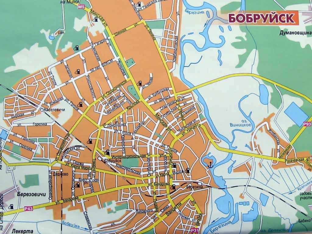 Карта схема бобруйска