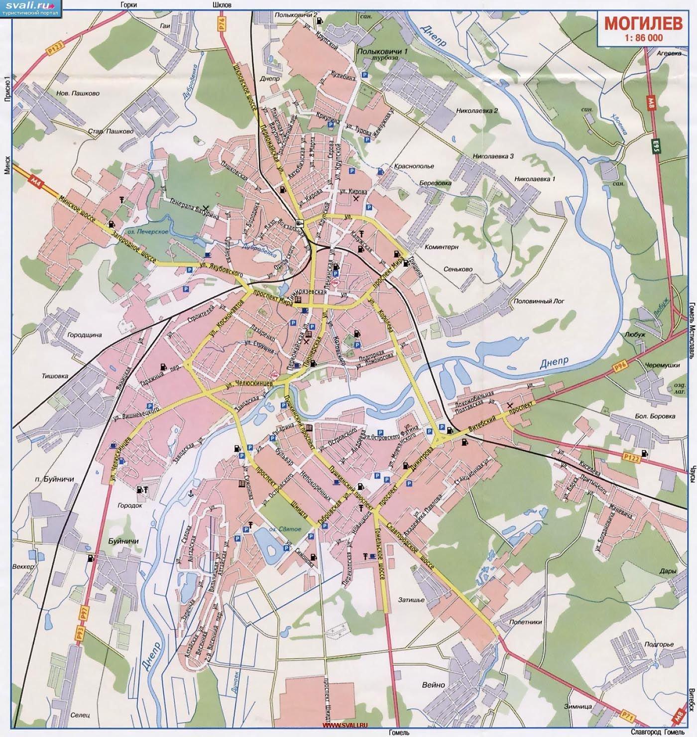 Карты Могилева (Беларусь). Подробная карта Могилева на русском языке ... e4347ad3ae2
