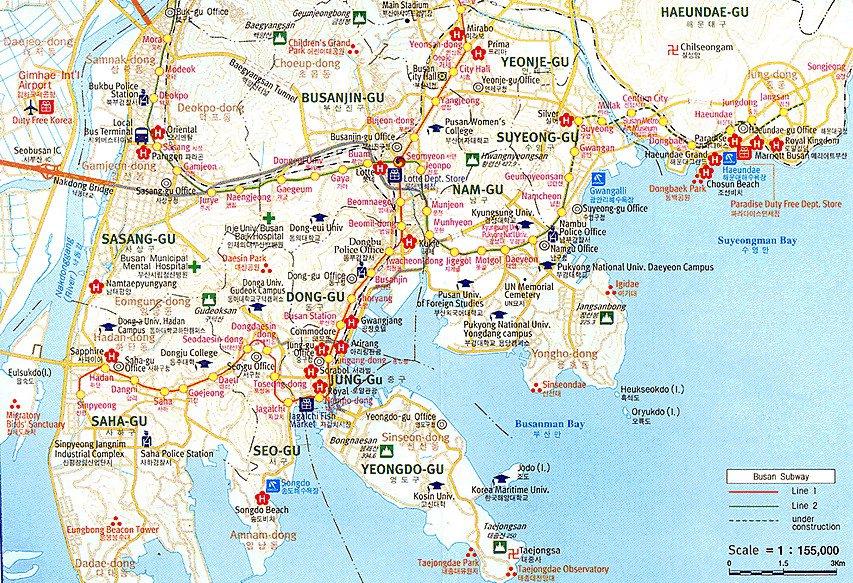карта метро сеула на русском языке номерами станций