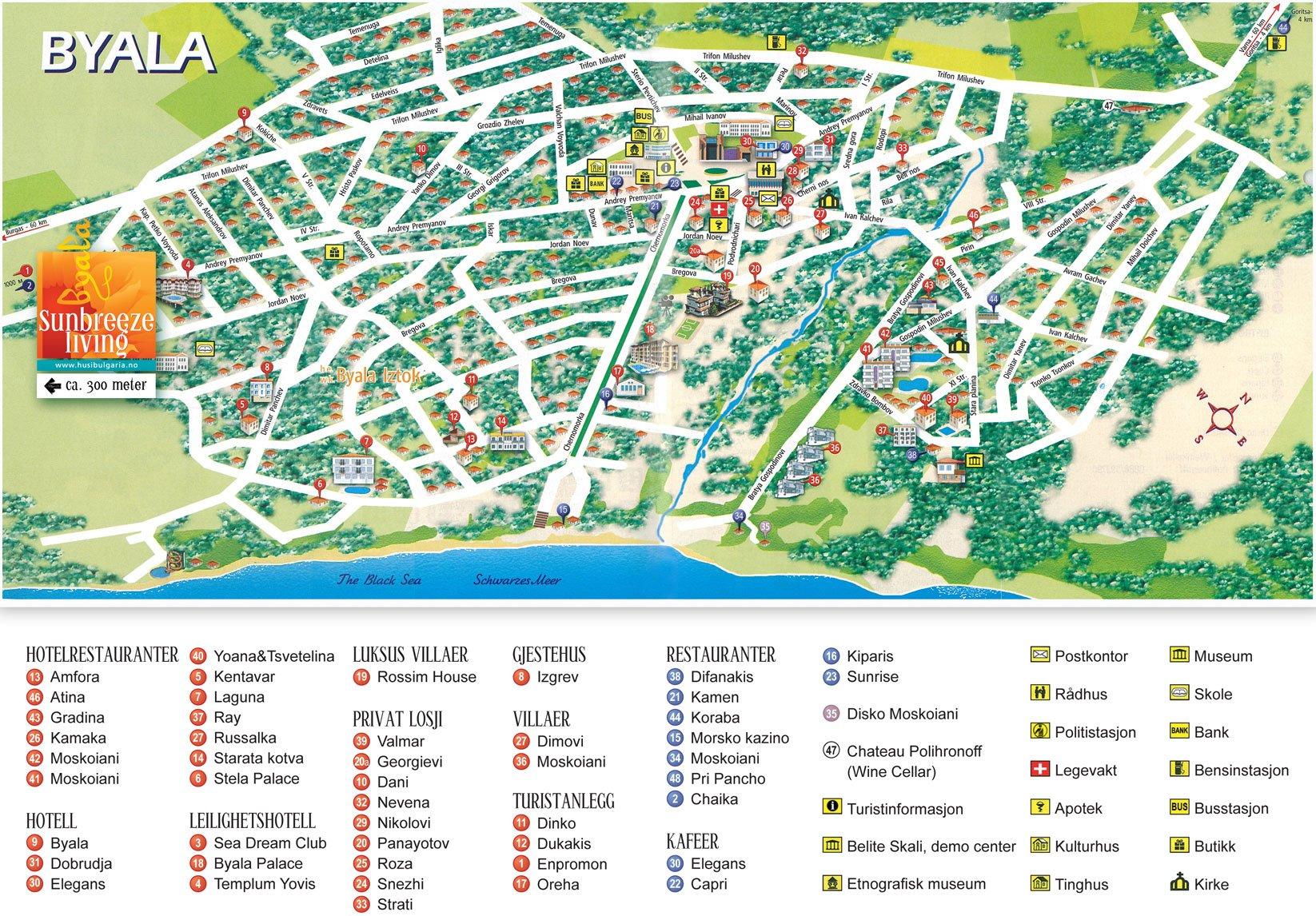 Karty Byaly Bolgariya Podrobnaya Karta Byaly Na Russkom Yazyke S