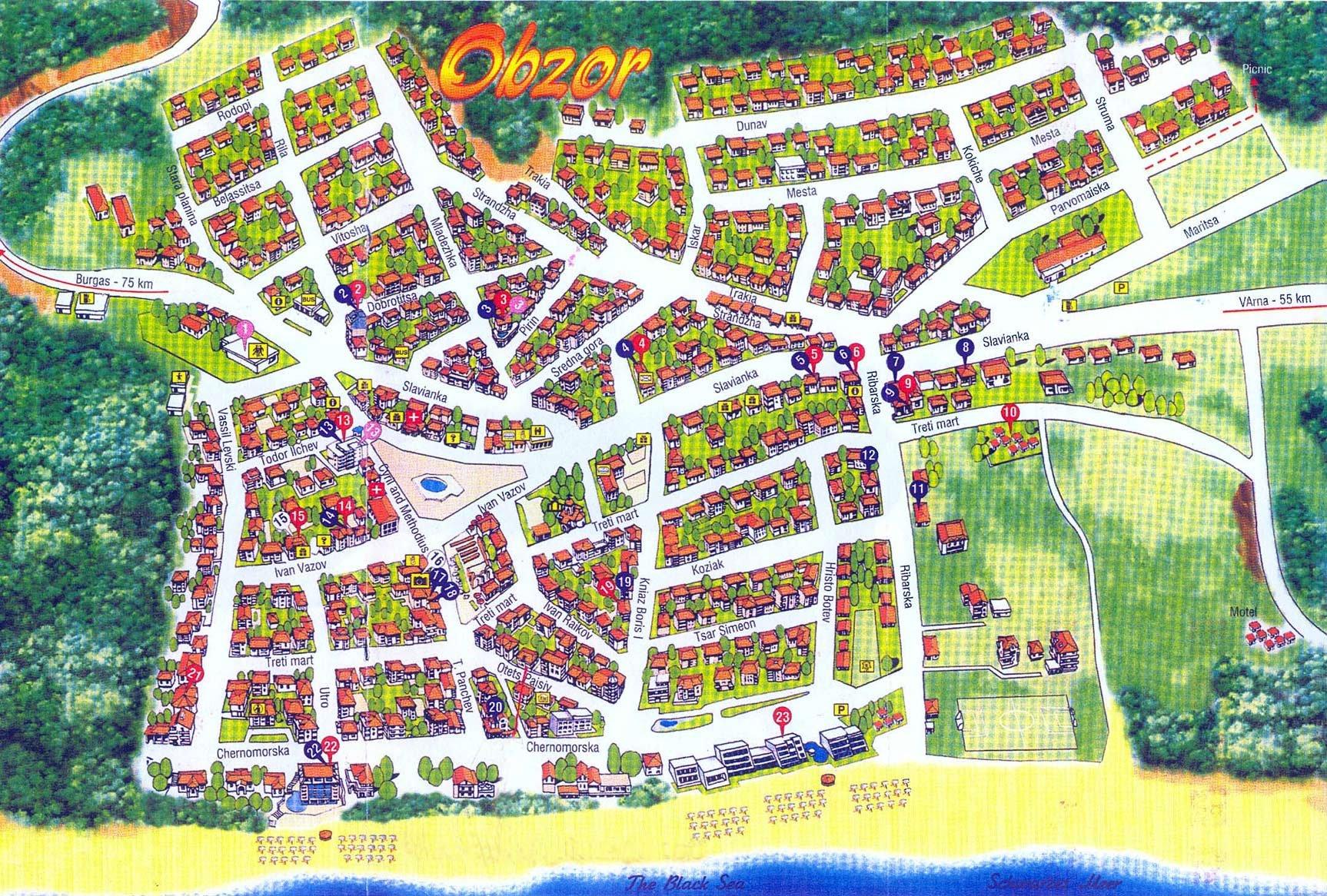 Karty Obzora Bolgariya Podrobnaya Karta Obzora Na Russkom Yazyke S
