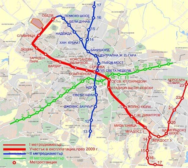Razshirenie Na Metroto Etap 3 Metropolitan Sofia