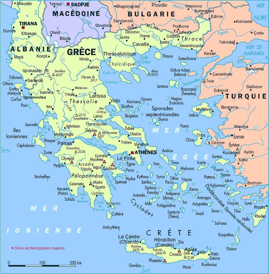 Karty Grecii Podrobnaya Karta Grecii Na Russkom Yazyke S Kurortami