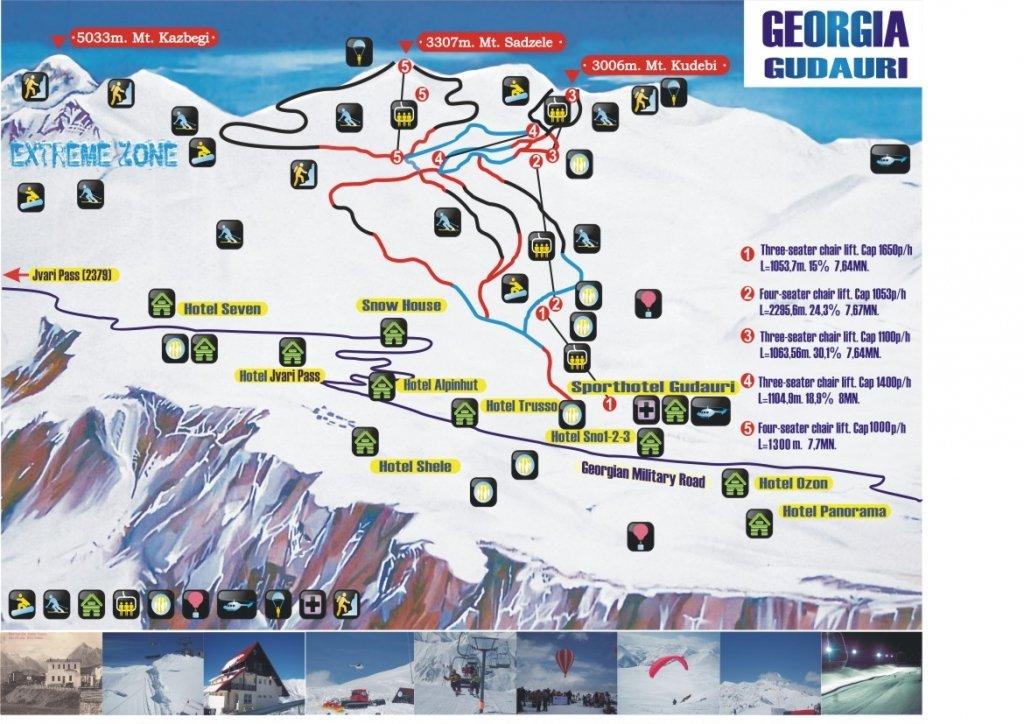 Karty Svanetii Gruziya Podrobnaya Karta Svanetii Na Russkom Yazyke S