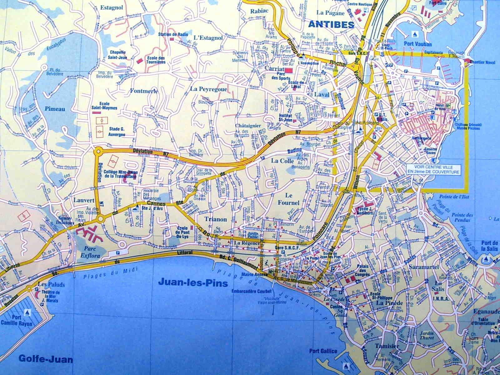 Карты Жуан ле Пена (Франция). Подробная карта Жуан ле Пена ...