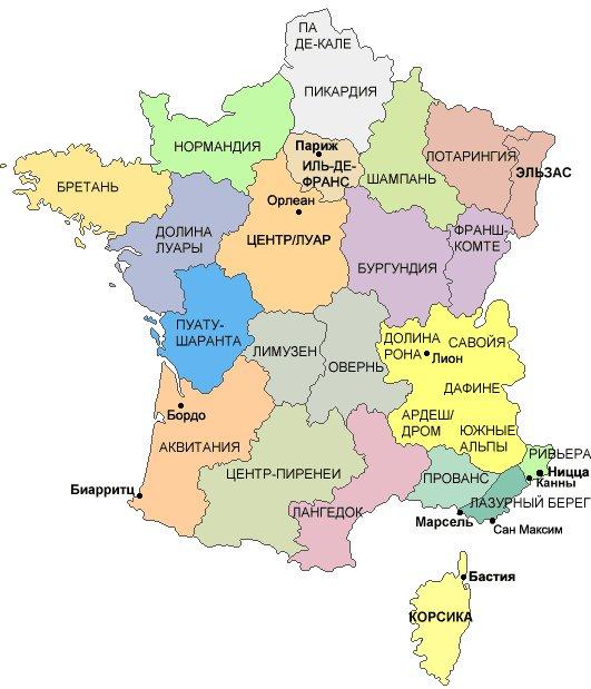 Karty Francii Podrobnaya Karta Francii Na Russkom Yazyke S