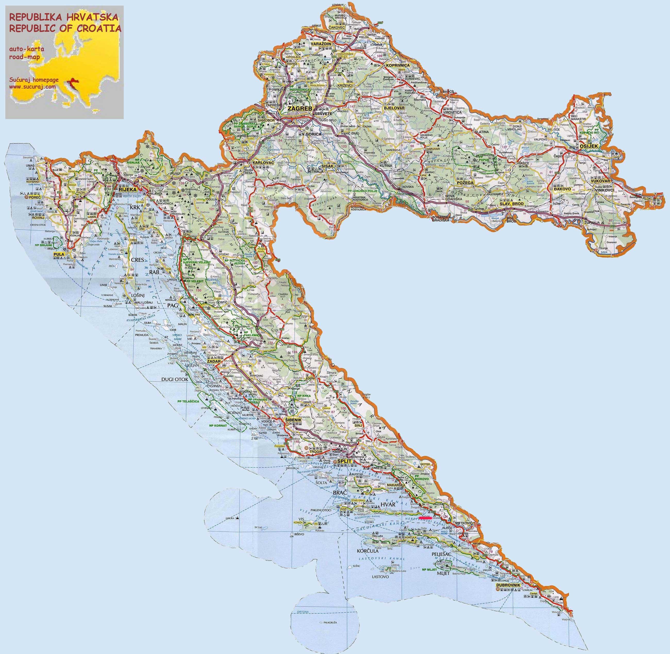 хорватия на карте мира фото салатах, закусках, сэндвичах