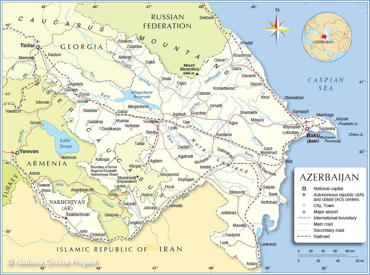 Karty Gabaly Azerbajdzhan Podrobnaya Karta Gabaly Na Russkom