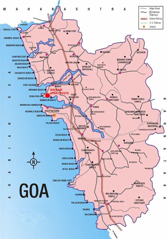 Индийский курорт Гоа. Районы, достопримечательности, фото Avia-all.ru | 775x540