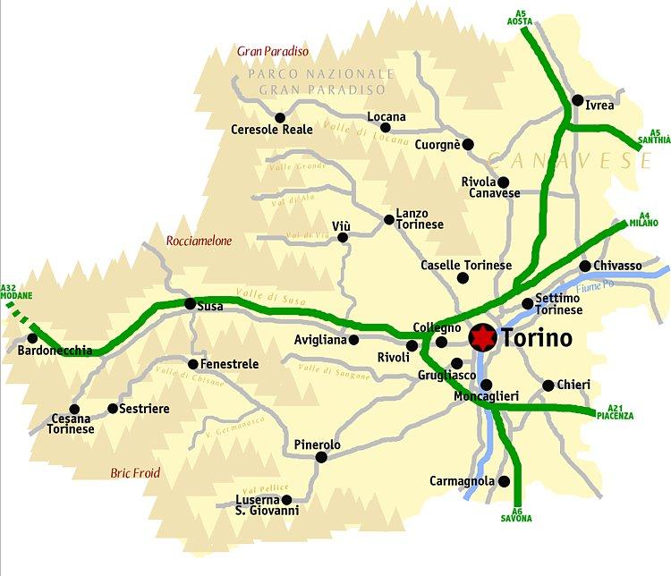 Karty Turina Italiya Podrobnaya Karta Turina Na Russkom Yazyke S