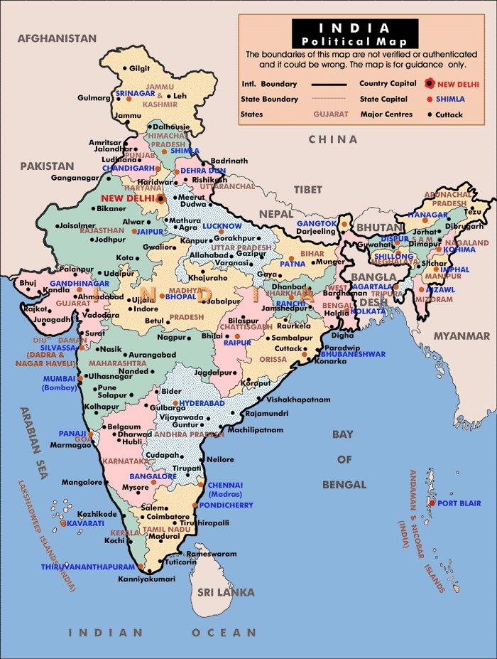 Karty Indii Podrobnaya Karta Indii Na Russkom Yazyke S Kurortami I