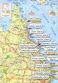 карта курорта Острова Большого Барьерного Рифа