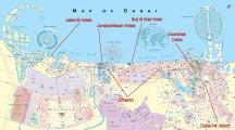 Карта Дубай