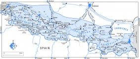 Карта Юг Пиренеи - Руссильон