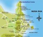 карта Нуса Дуа