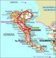 карта острова Корфу (Керкиры)
