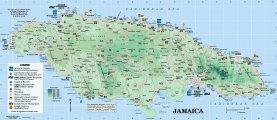 Подробная карта Ямайки