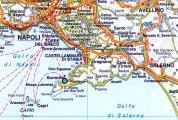 Сорренто на карте Италии