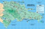 Туристическая карта Доминиканы